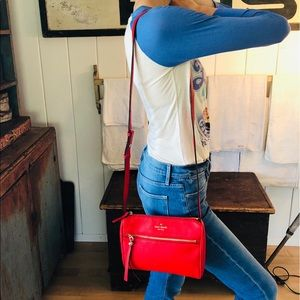 ♥️ Kate Spade ♥️ Red Leather Crossbody Bag